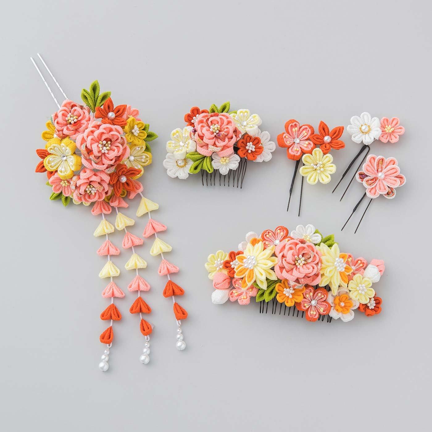 晴れの日に華を添える つまみ細工の髪飾りの会〈曙色〉
