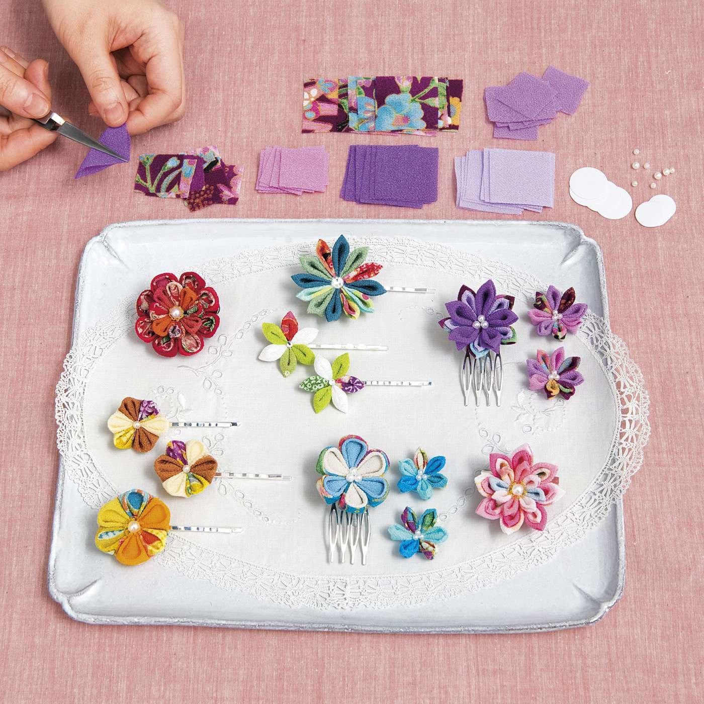 カット済み布で簡単きれい つまみ細工のお花の会