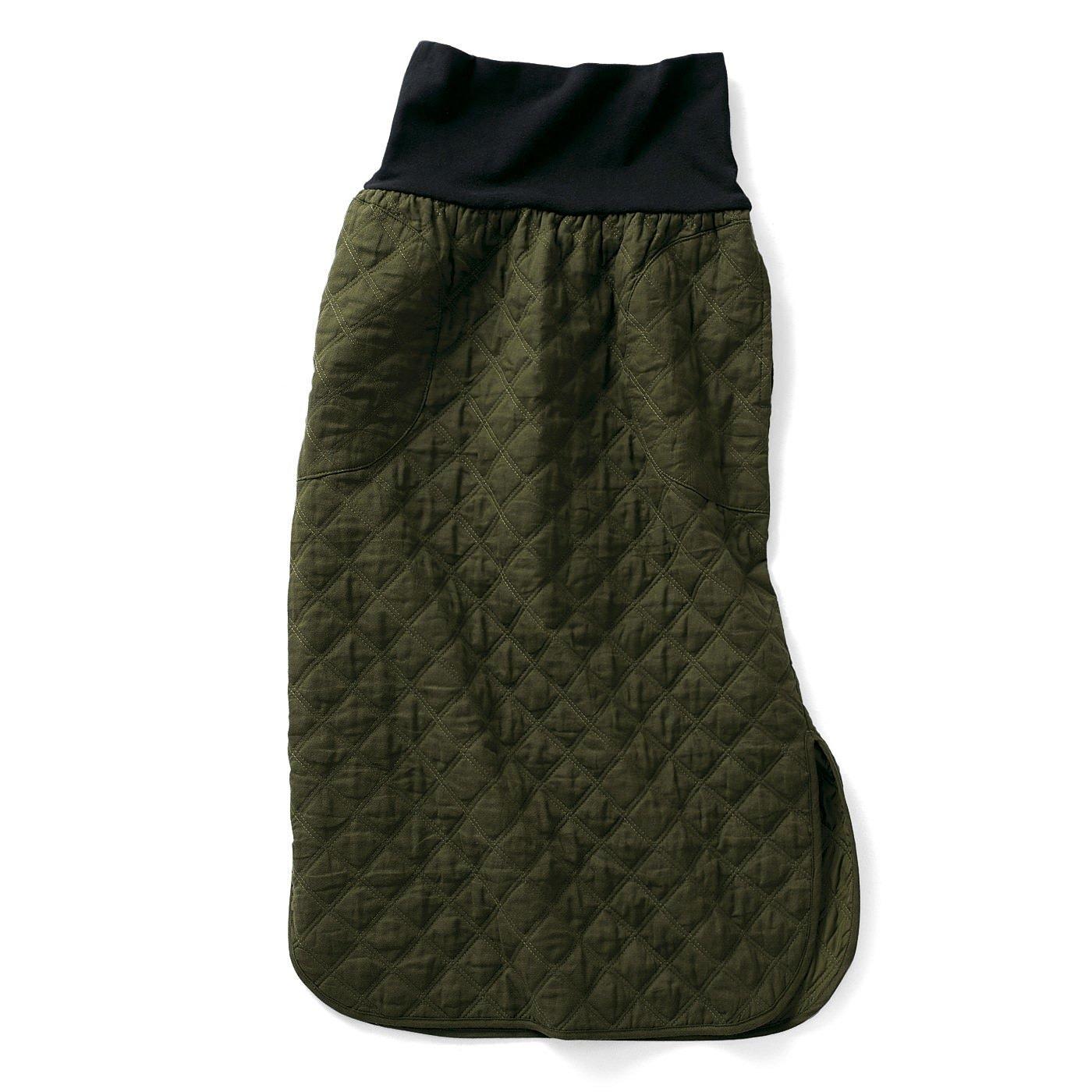 フラウグラット おなかまわりをやさしく包む 安心あったかキルティングスカート