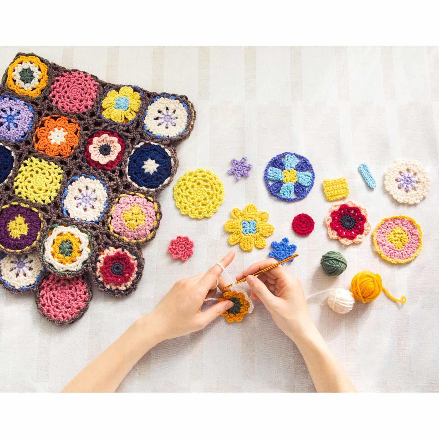 「はじめてさんのきほんのき」 くさり編みからきちんとレッスン♪ かぎ針モチーフ編みの会