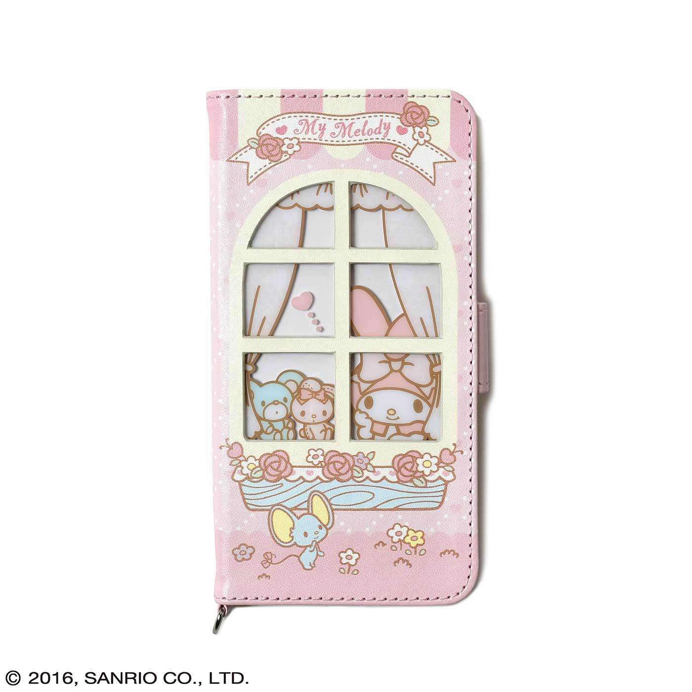 フェリシモ マイメロディ 窓付きiPhone 6s/6ケース