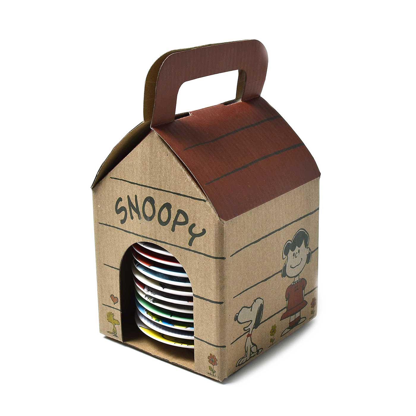 スヌーピーのおうちみたいな、かわいいボックスでお届けします。