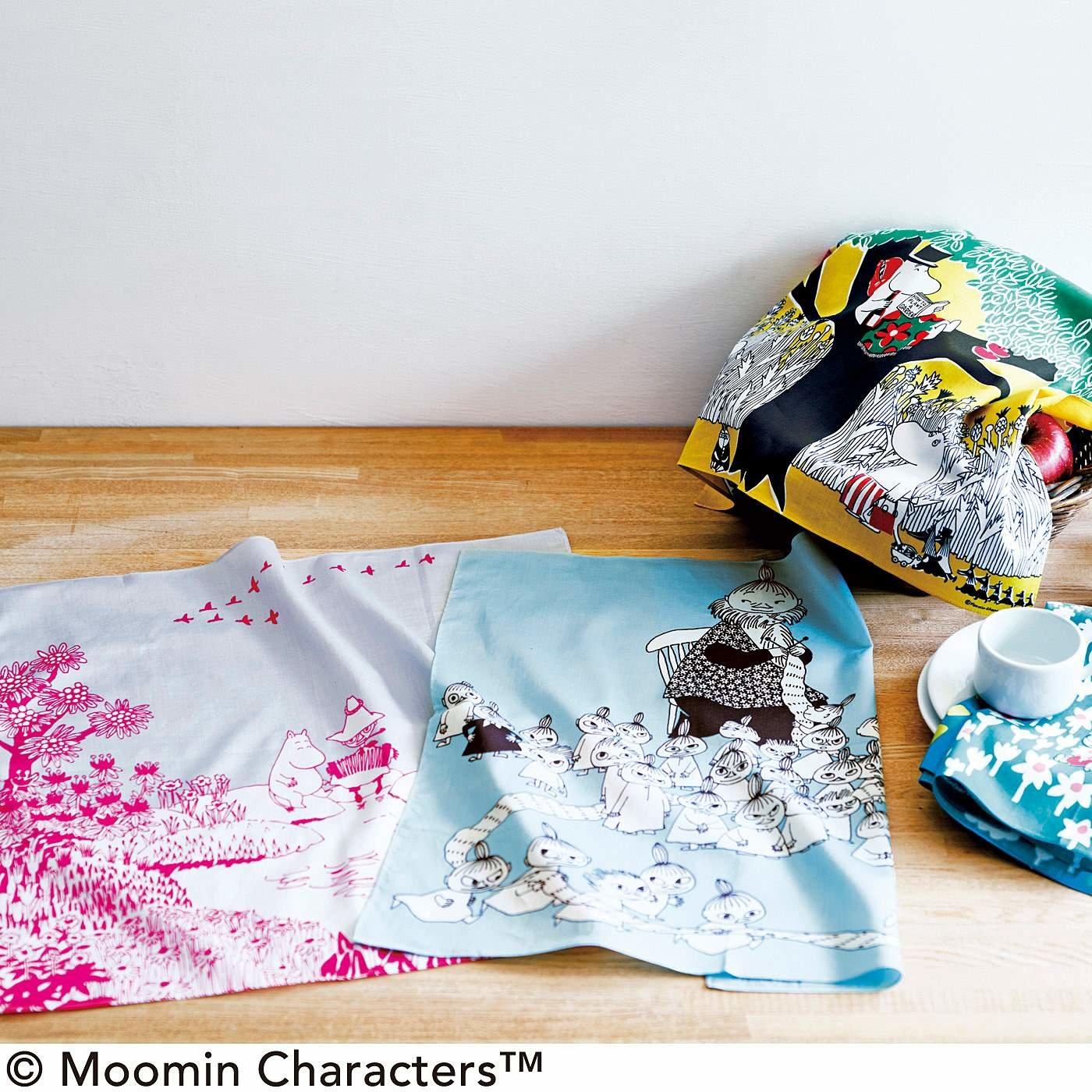 50×50cmの布に紡ぎだされる鈴木マサルさんの世界 MOOMIN TRIBUTE WORKS ハンカチの会