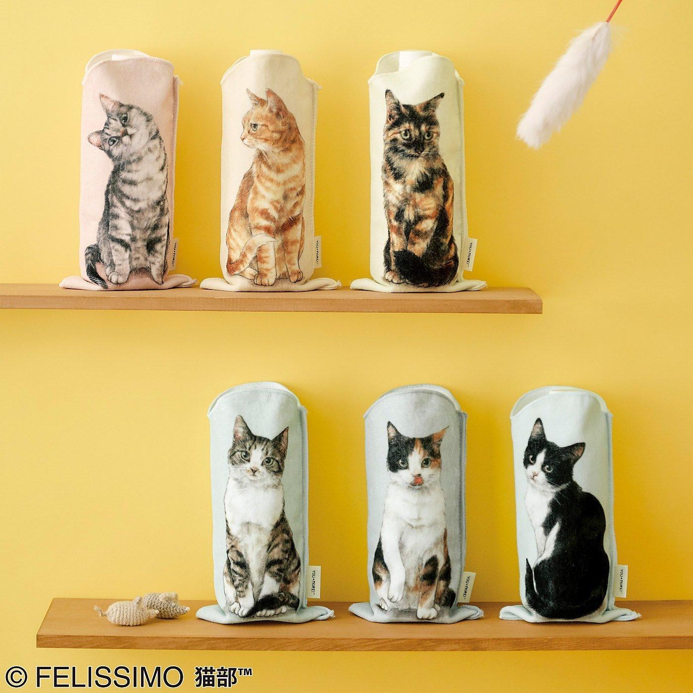 YOU+MORE! 机の上におすわり 猫のペットボトルタオルの会
