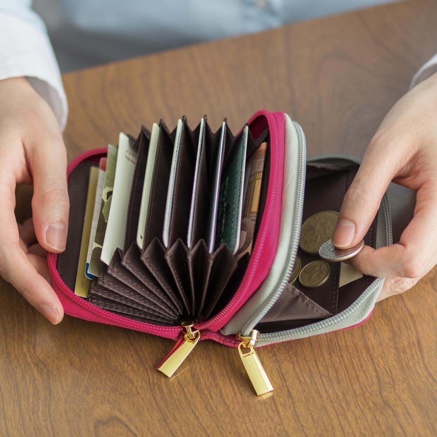 ハッピーに開こう! ダブルポケットじゃばらカード&コインケースの会