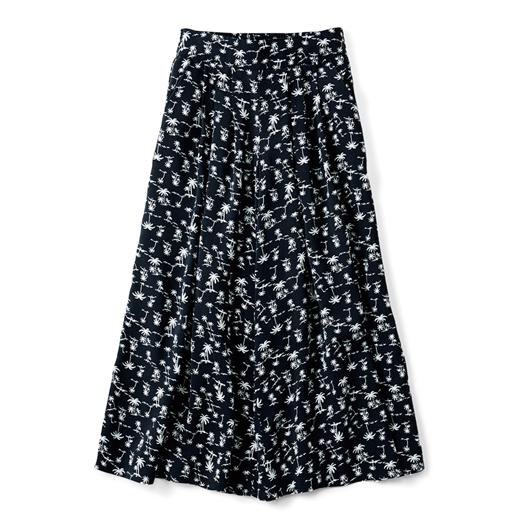 キュロットスカートだから脚さばきがらくちん。