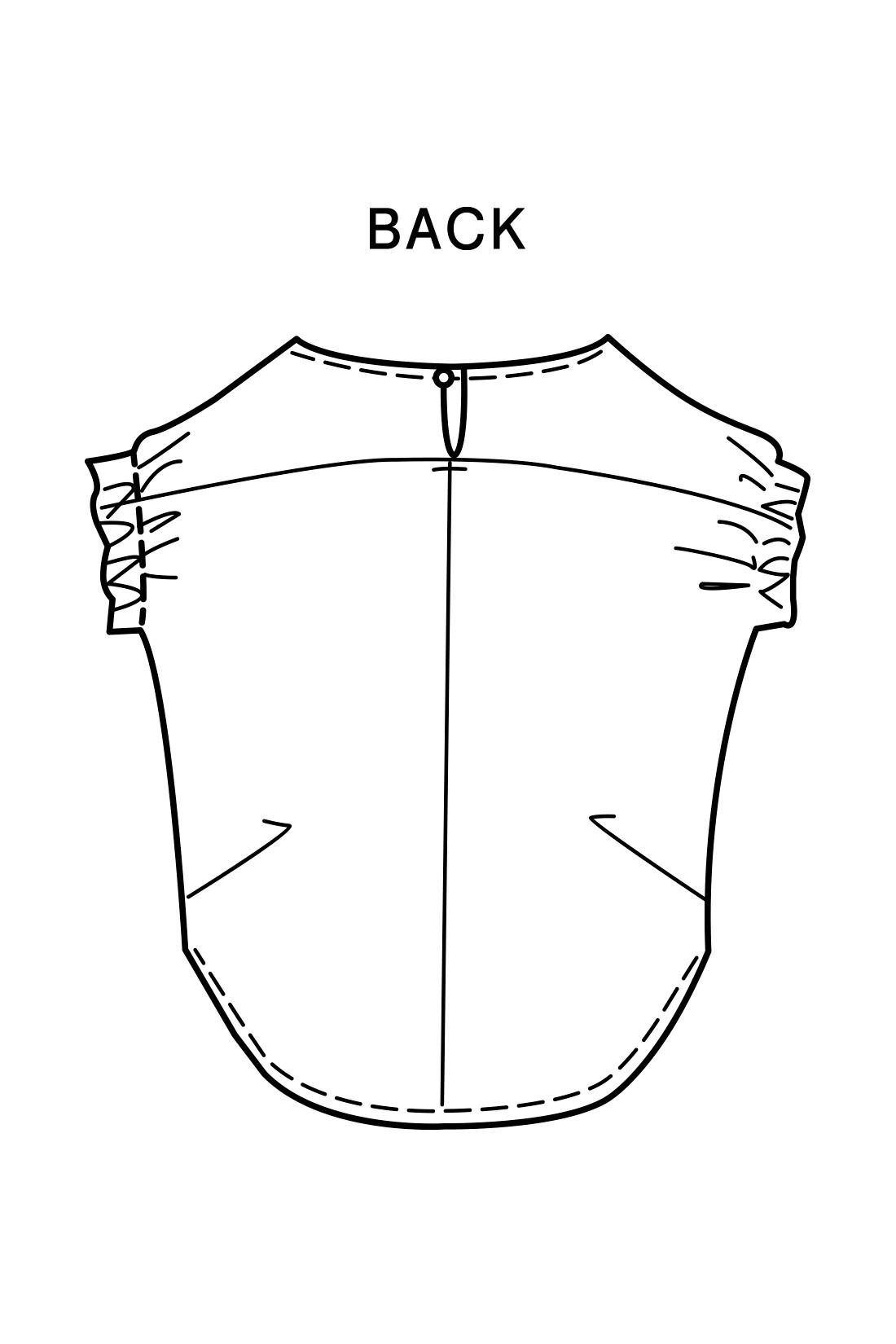 切り替えやサイドのタックでふんわり背中~ヒップも包むこなれシルエット。