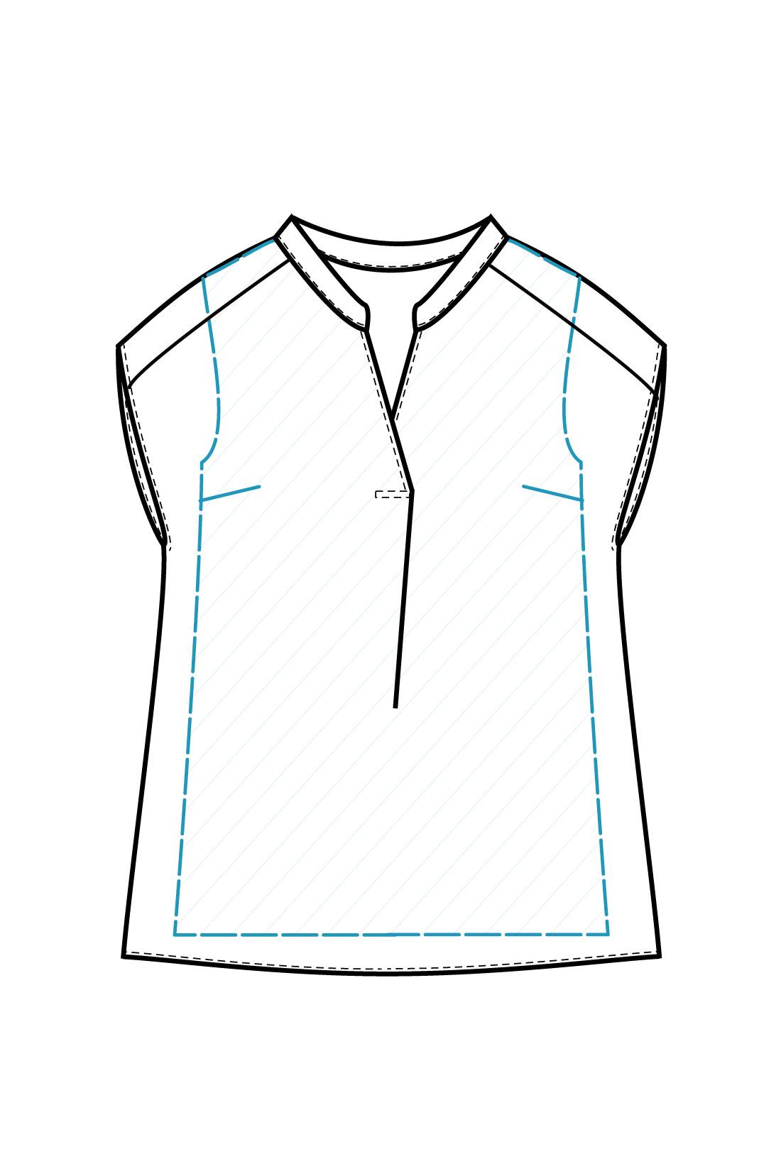 インナー一体型の二枚仕立て インナー付きだから、シフォンの透け感を気にせず一枚で着られます。