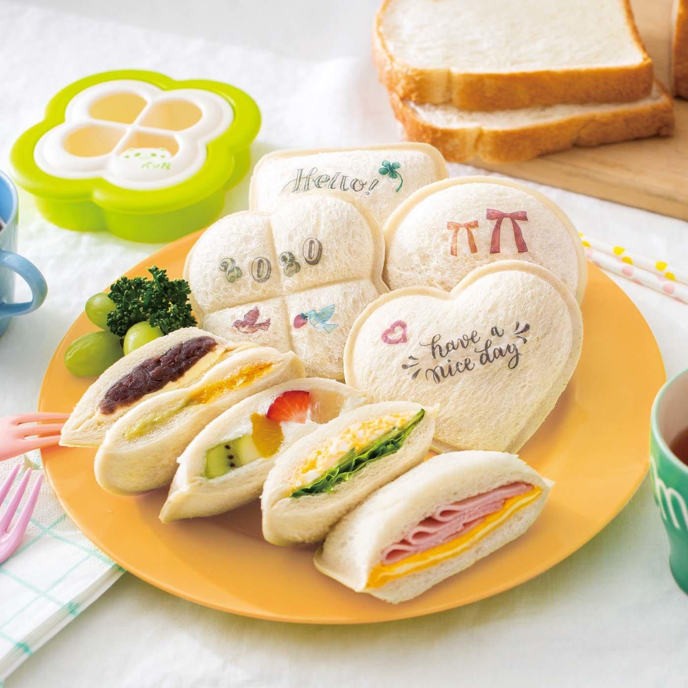 minitsuku chocott 型を抜いてシートでおめかし サンドイッチメーカーと食べられるデコシートの会