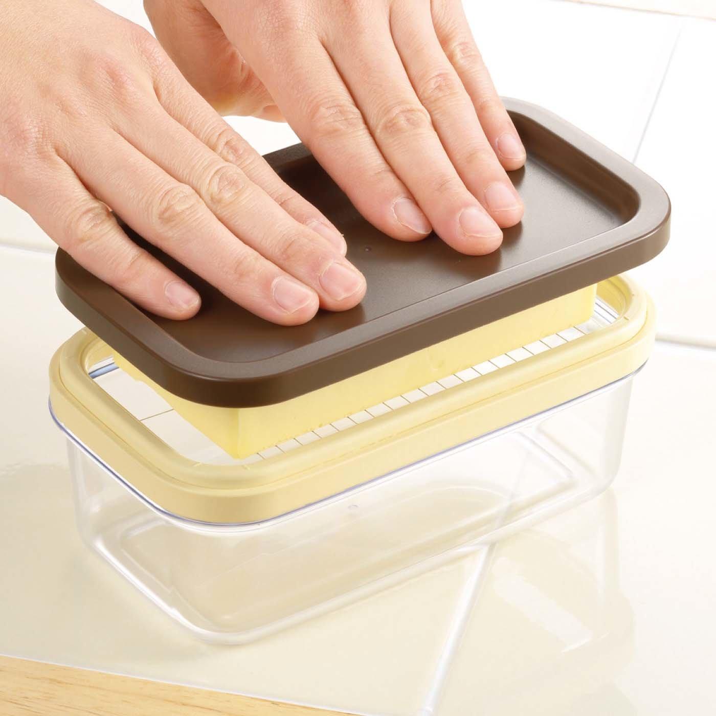 かたまりバターを一気にカット すごワザ バターケース