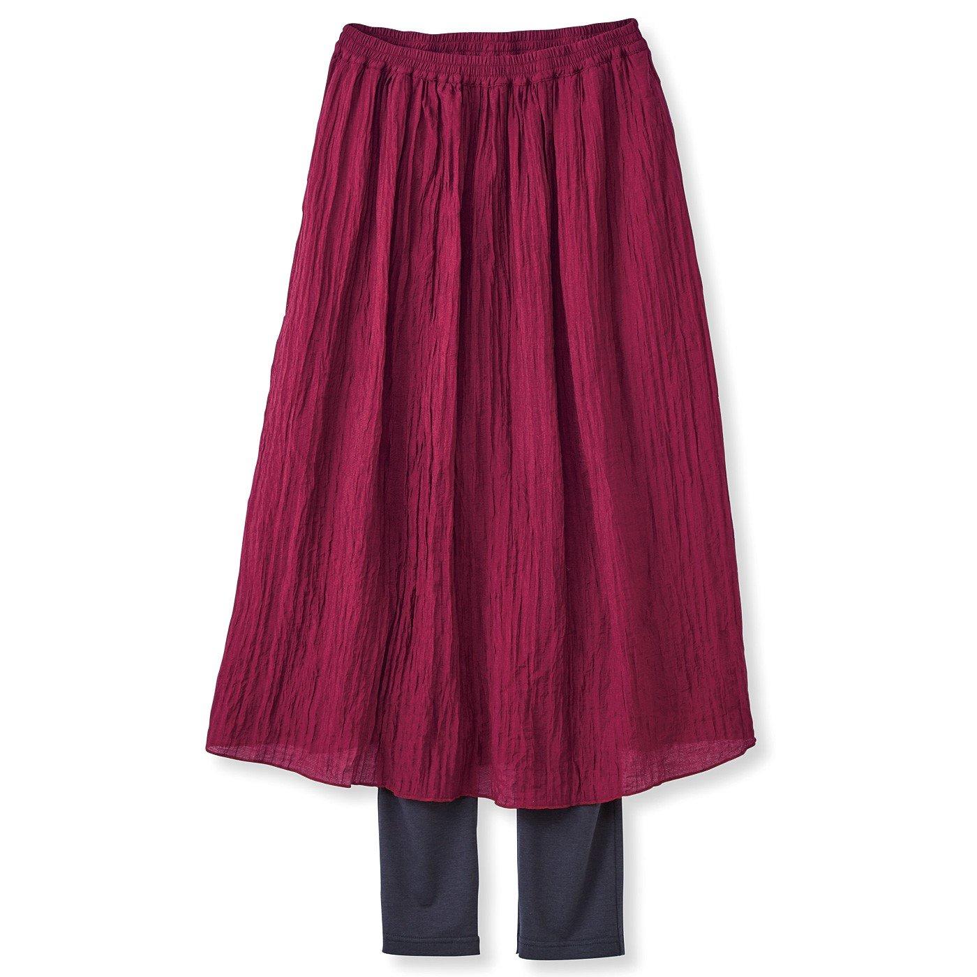フラウグラット レギンス付きですっきりきれい♪ 楊柳軽やかスカートの会