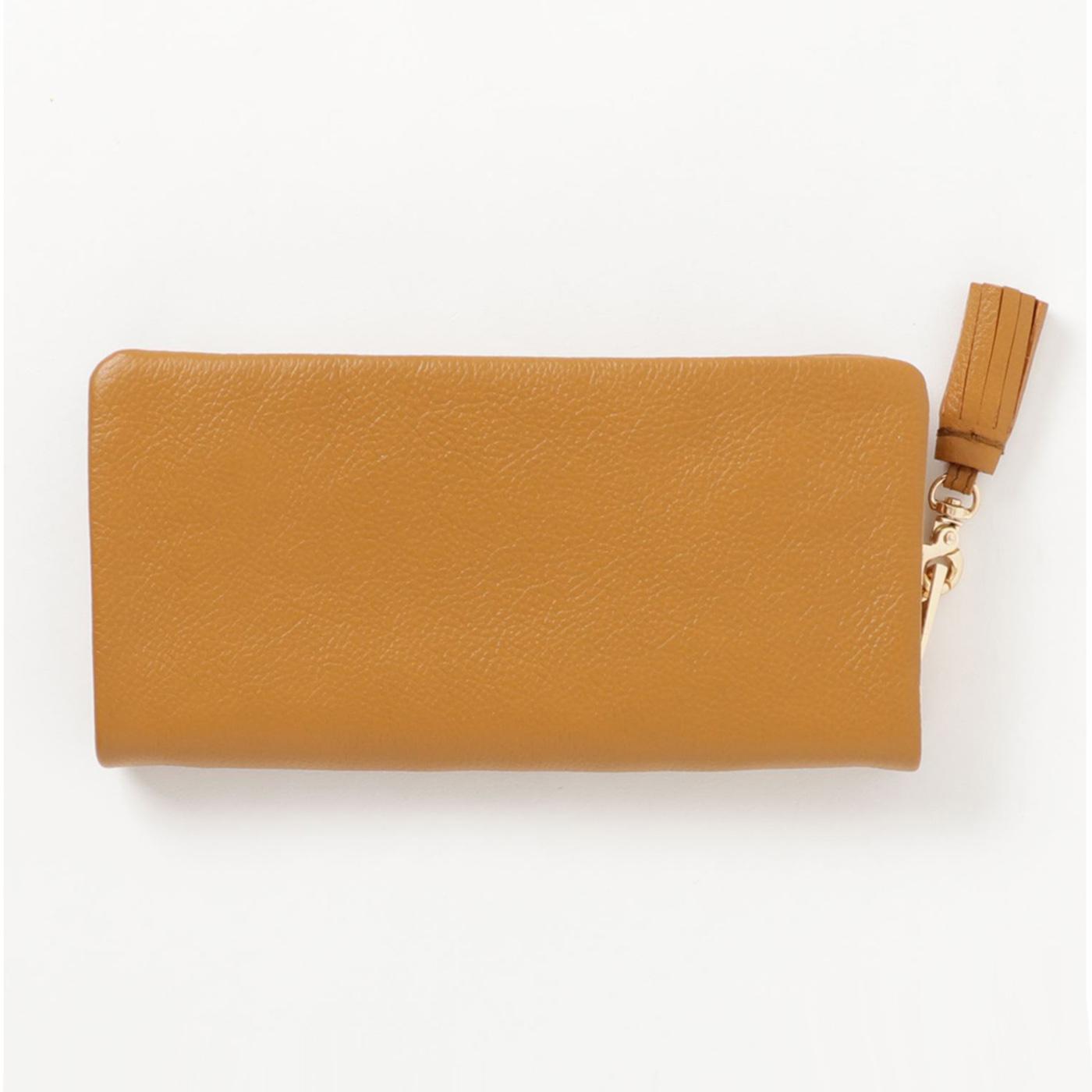 IEDIT[イディット] SELECT やわらかマットレザーで手になじむ 長く使いこみたい本革長財布〈イエロー〉