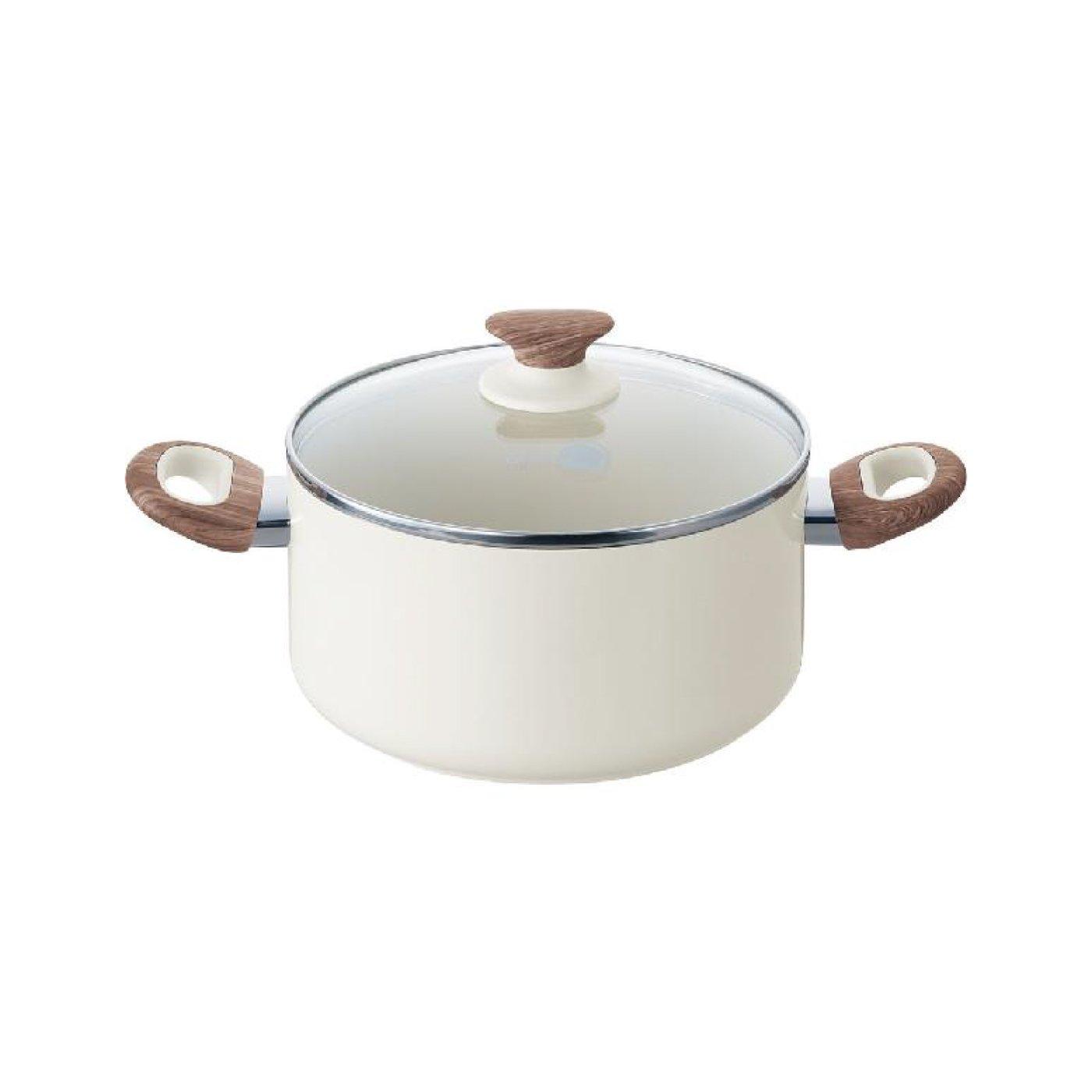 グリーンパン ウッドビー フッ素不使用 セラミックキャセロール蓋付き(20cm)