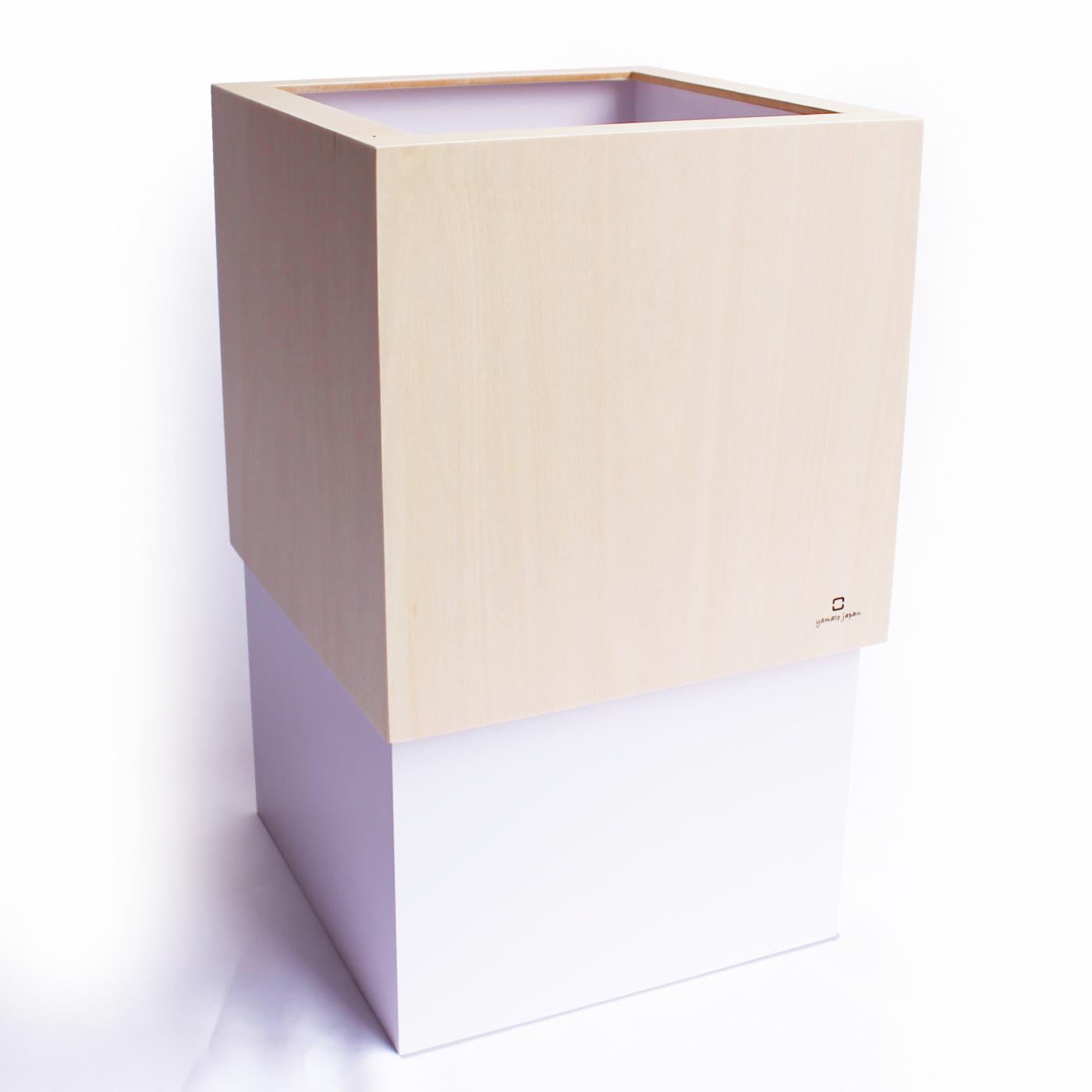 フェリシモ どんなインテリアにもなじむスタイリッシュな木製 Wキューブ ダストボックス