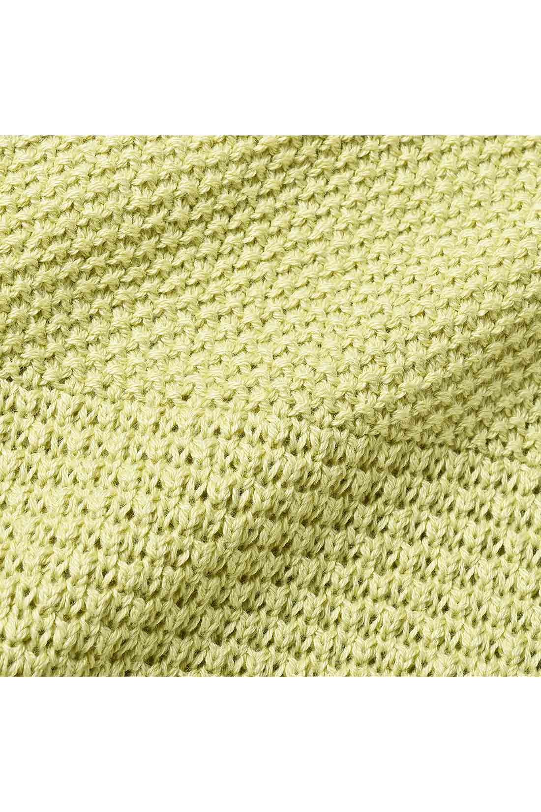 表情豊かで立体的な、かのこ&ワッフル編みの切り替えデザイン。