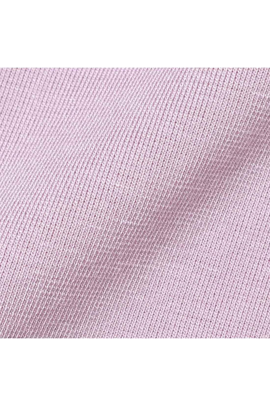 身生地は吸汗速乾性のある薄手の綿混素材で快適。