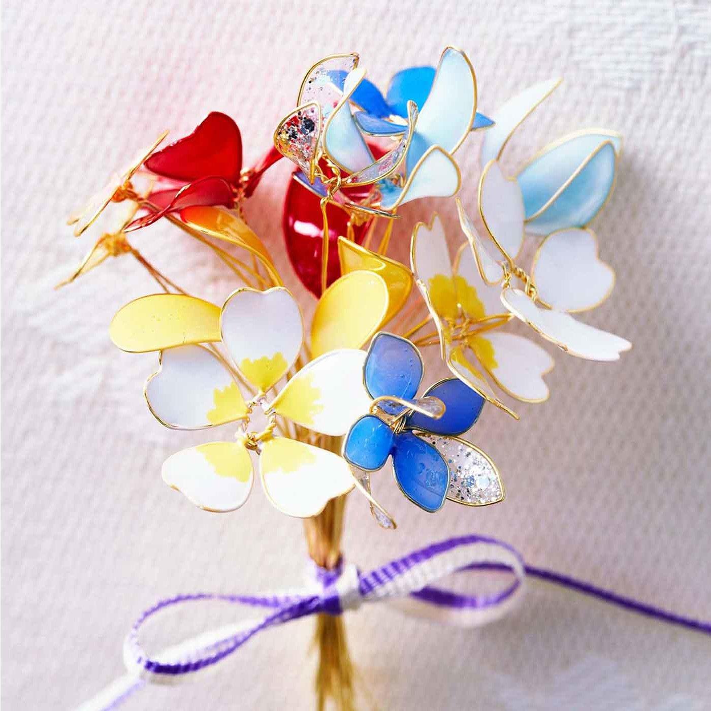 マニキュアで可憐に咲かせる お花のアクセサリーの会