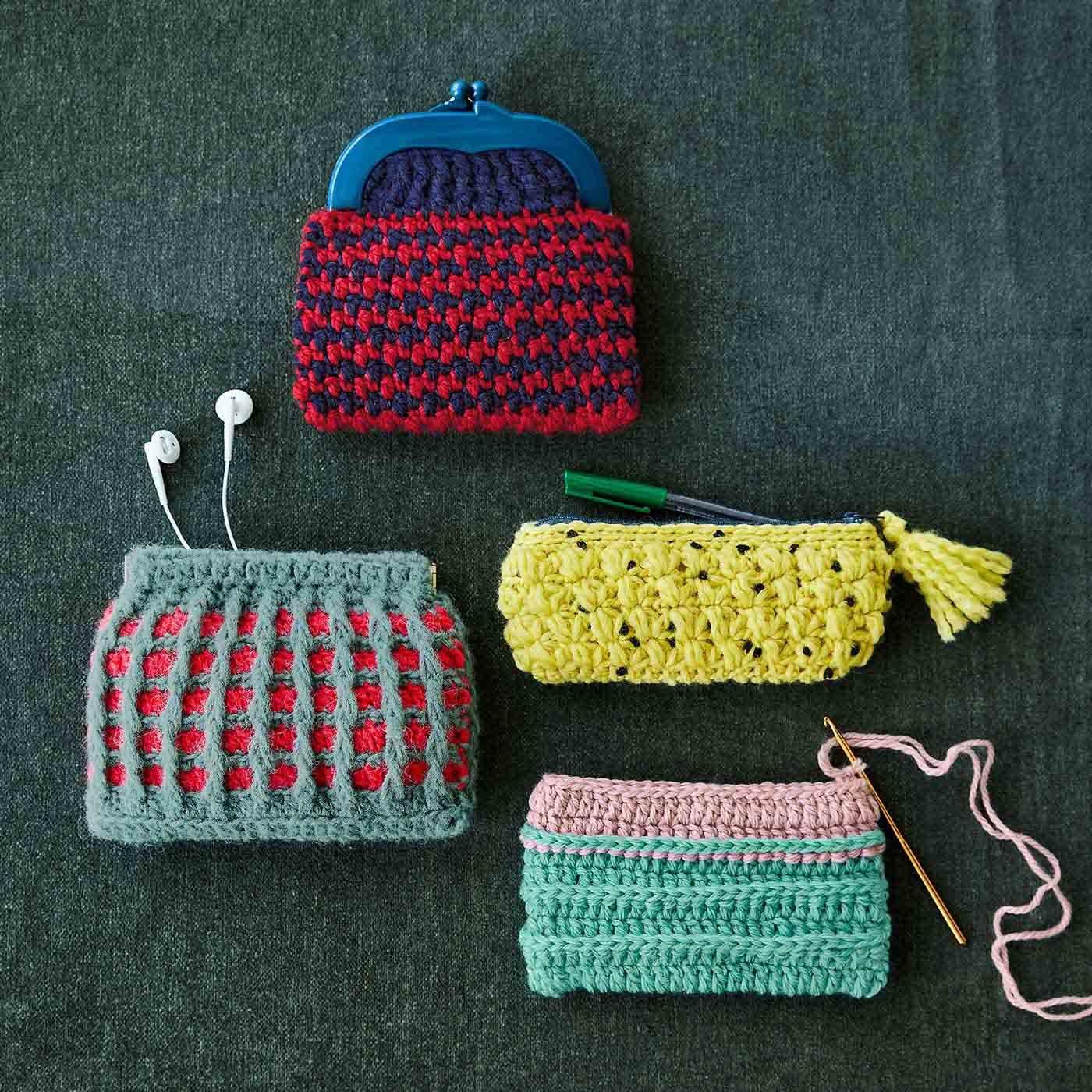 模様編みをたっぷり楽しむ かぎ針編みカラフルポップなポーチの会