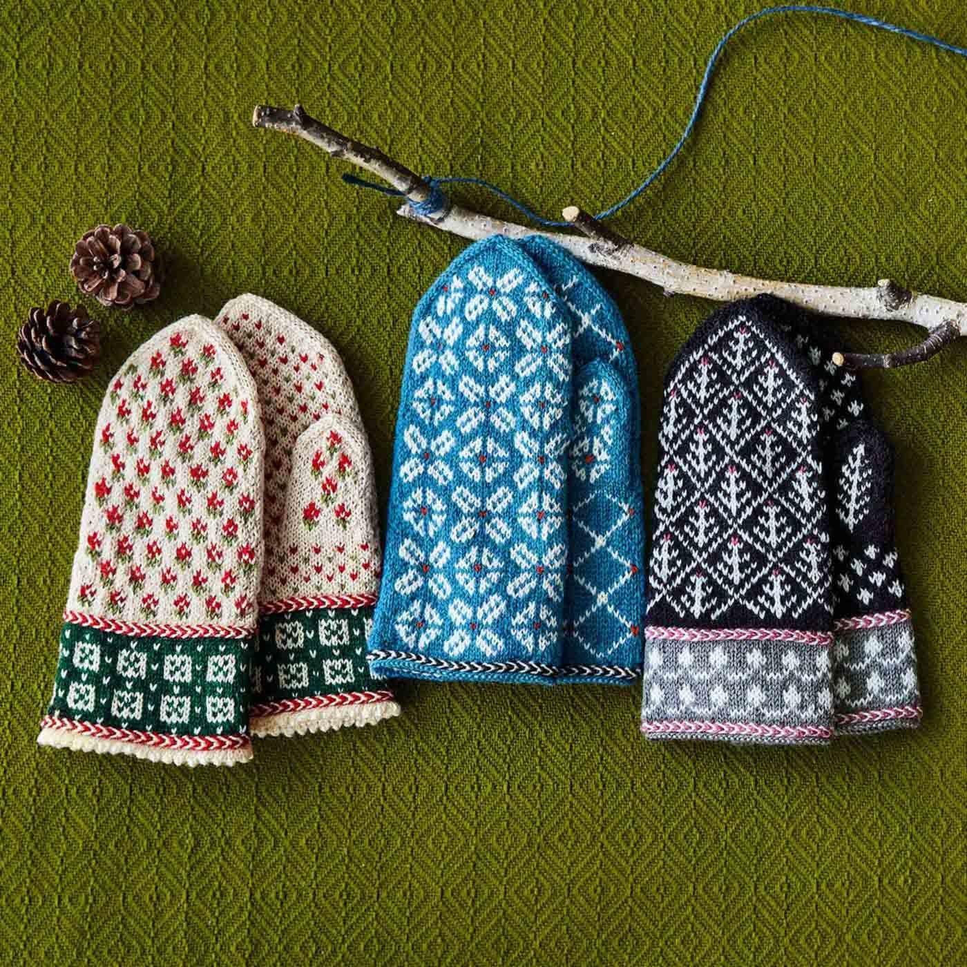 ラトビアにあこがれて 編み込み模様がかわいい 三角あたまのミトンの会