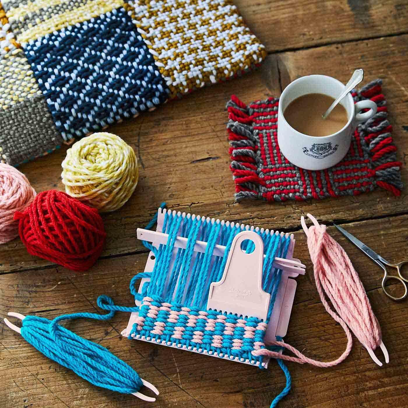 私にも作れる! 模様が楽しい 手織りのコースターの会