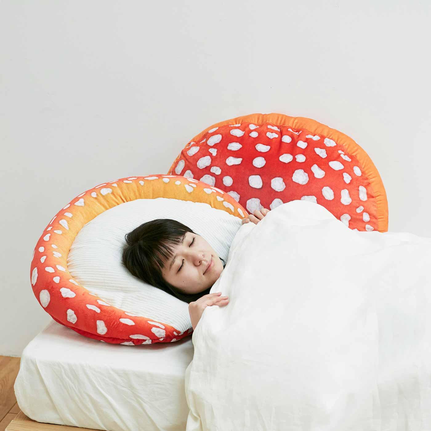 ベニテングダケの枕カバー
