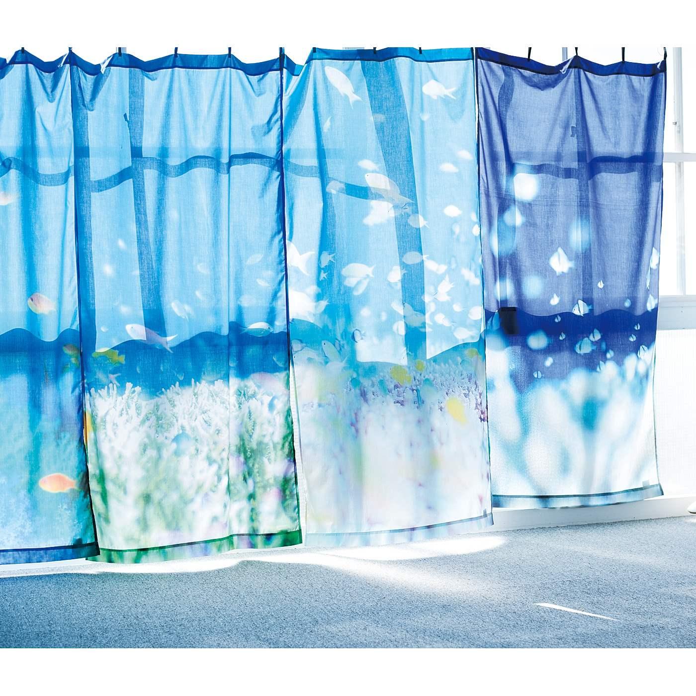 Kraso[クラソ]|海とかもめ部 お部屋が海になる 海中の光に包まれるカーテンの会