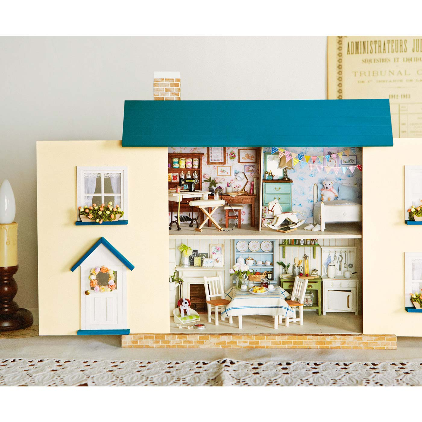 Couturier[クチュリエ] 季節の飾りつけを楽しむ シャビーシック風ドールハウスのインテリアの会 別売りのドールハウスに飾って楽しんで。