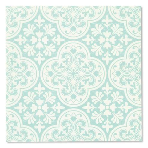 貼ってはがせる 30cm角の壁紙シール ミントタイル柄 の会 フェリシモ