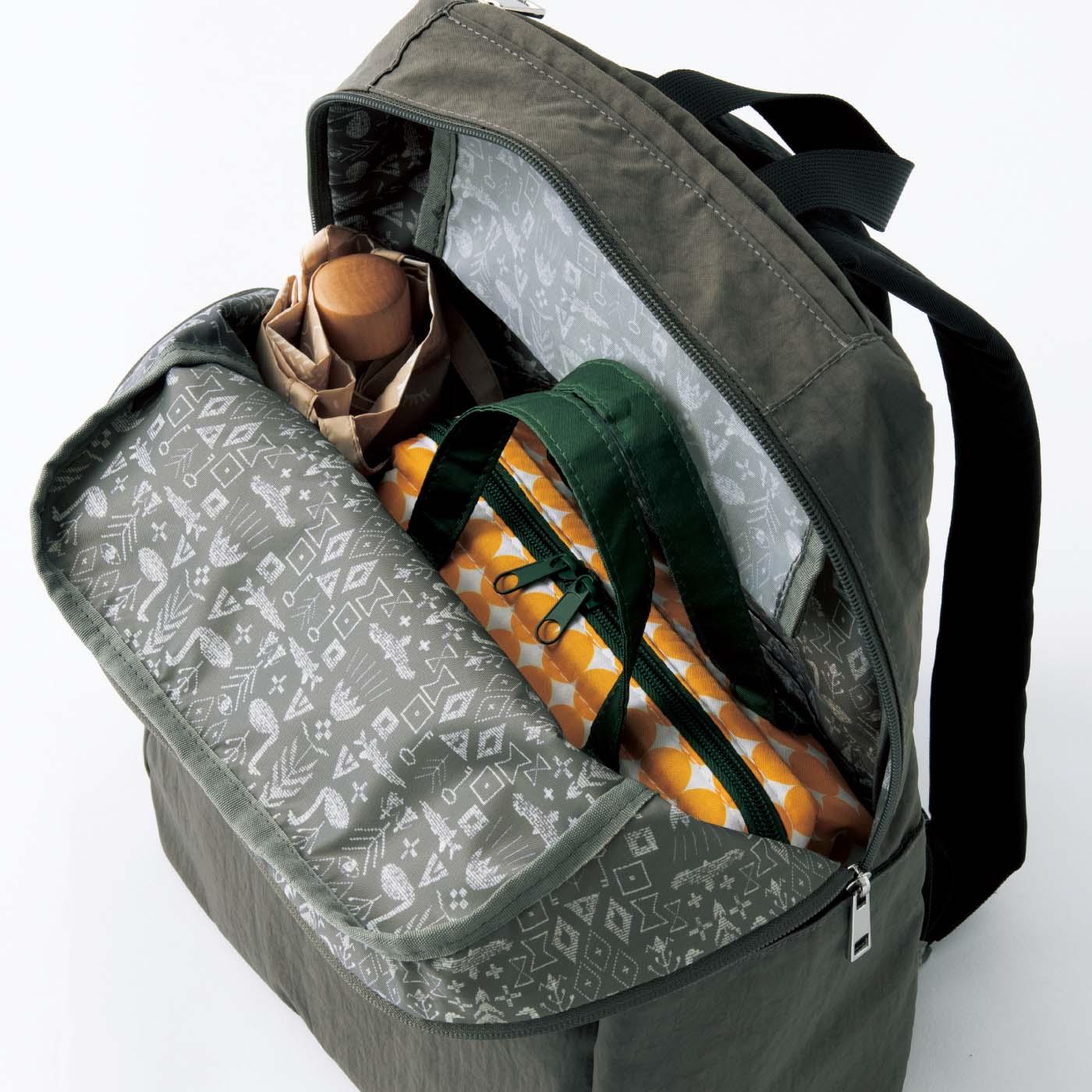 Kraso[クラソ] SAANA JA OLLI サーナ ヤ オッリ 10ポケット撥水(はっすい)リュックの会 幅広まちでお弁当や水筒もらくらく。