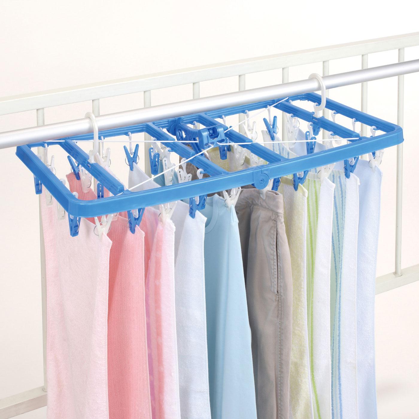 低い位置の竿に便利! 丈の長い洗濯物も干しやすい SLA