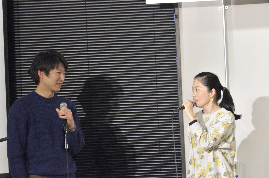 妙嶋さんとテーマについて話す石田さん