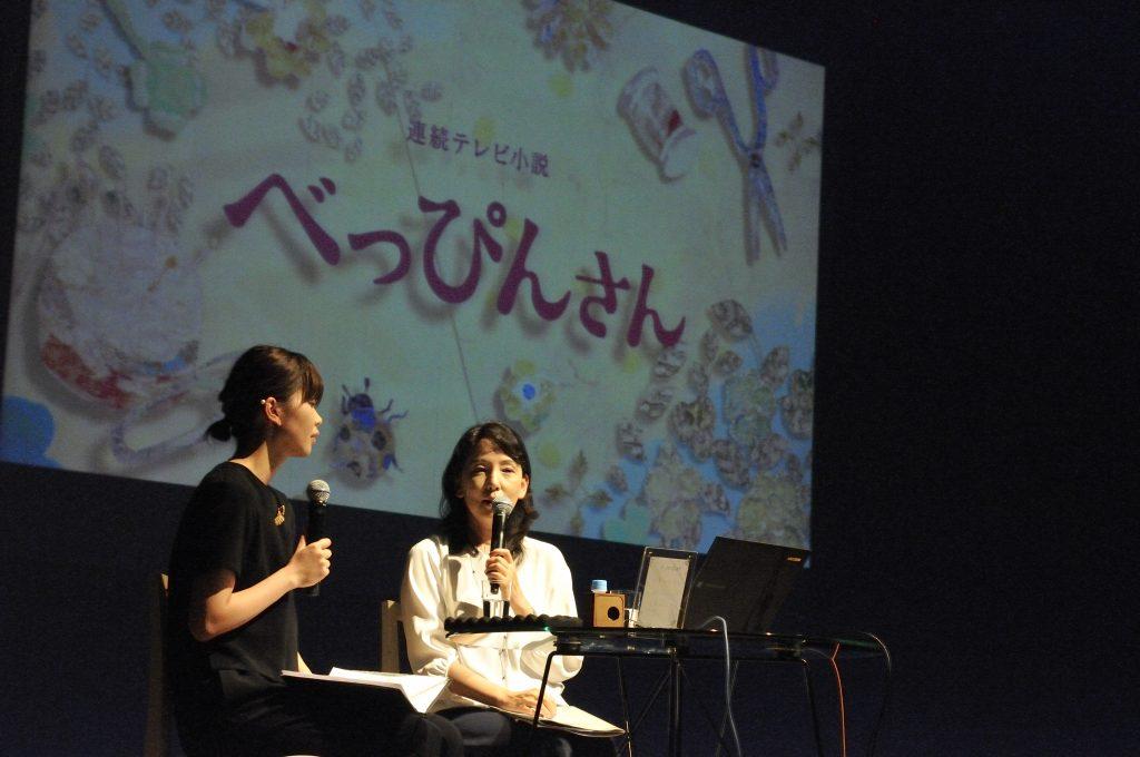 NHKの朝ドラ『べっぴんさん』の話をする松下さん