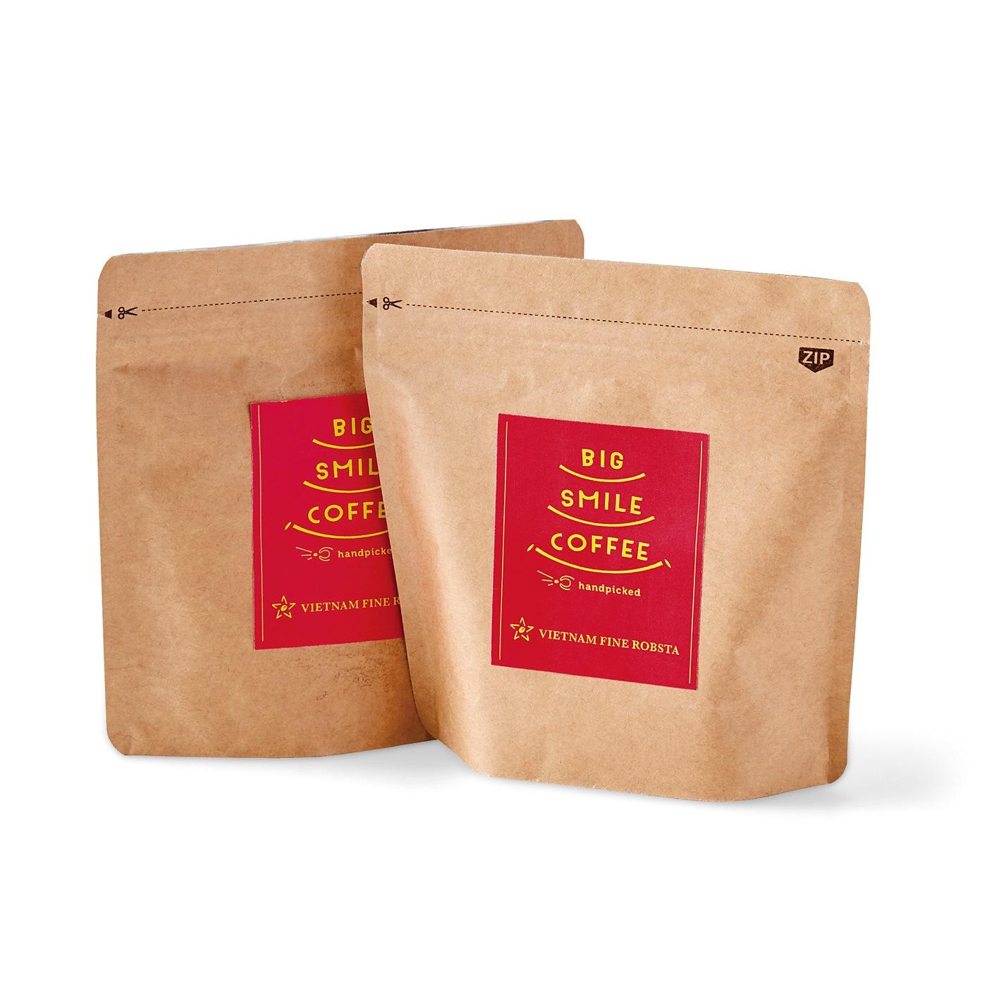 BIG SMILE COFFEE ベトナムからのスペシャルな豆で楽しむコーヒー味比べ2種セット アレンジレシピ付きの会