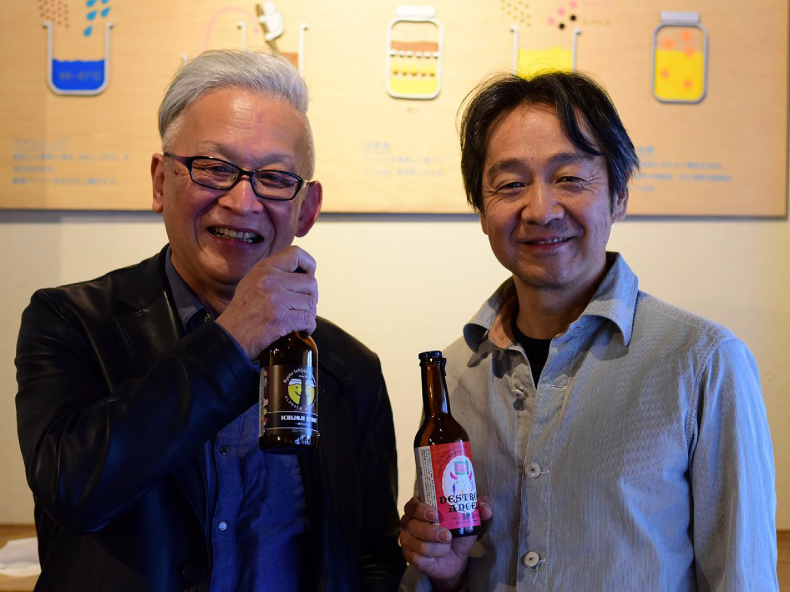 「京都・一乗寺ブリュワリー」(左)高木さん・(右)伴さん