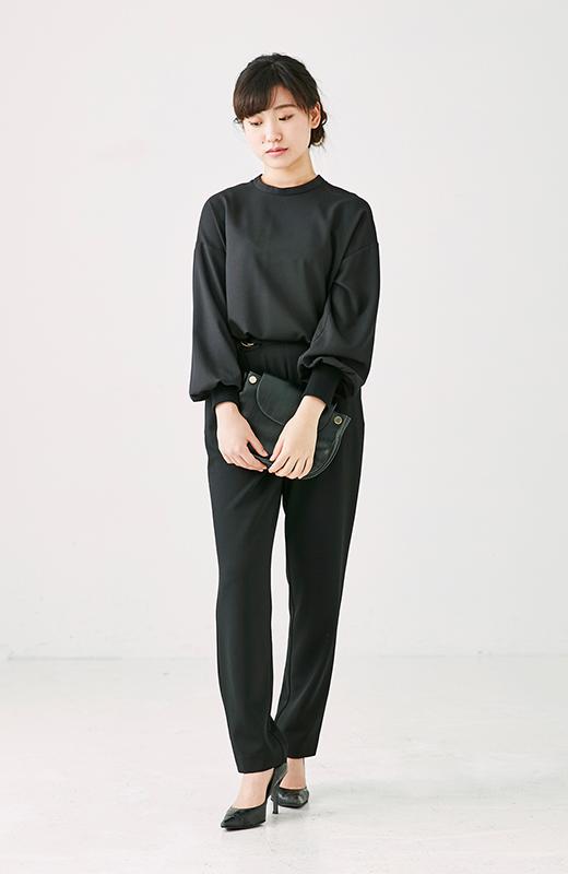 服装 法事 法事は服装ルールを守ってマナー美人に!洗練ブラックで淑やかなきちんとフォーマルスタイル Niau【ニアウ】