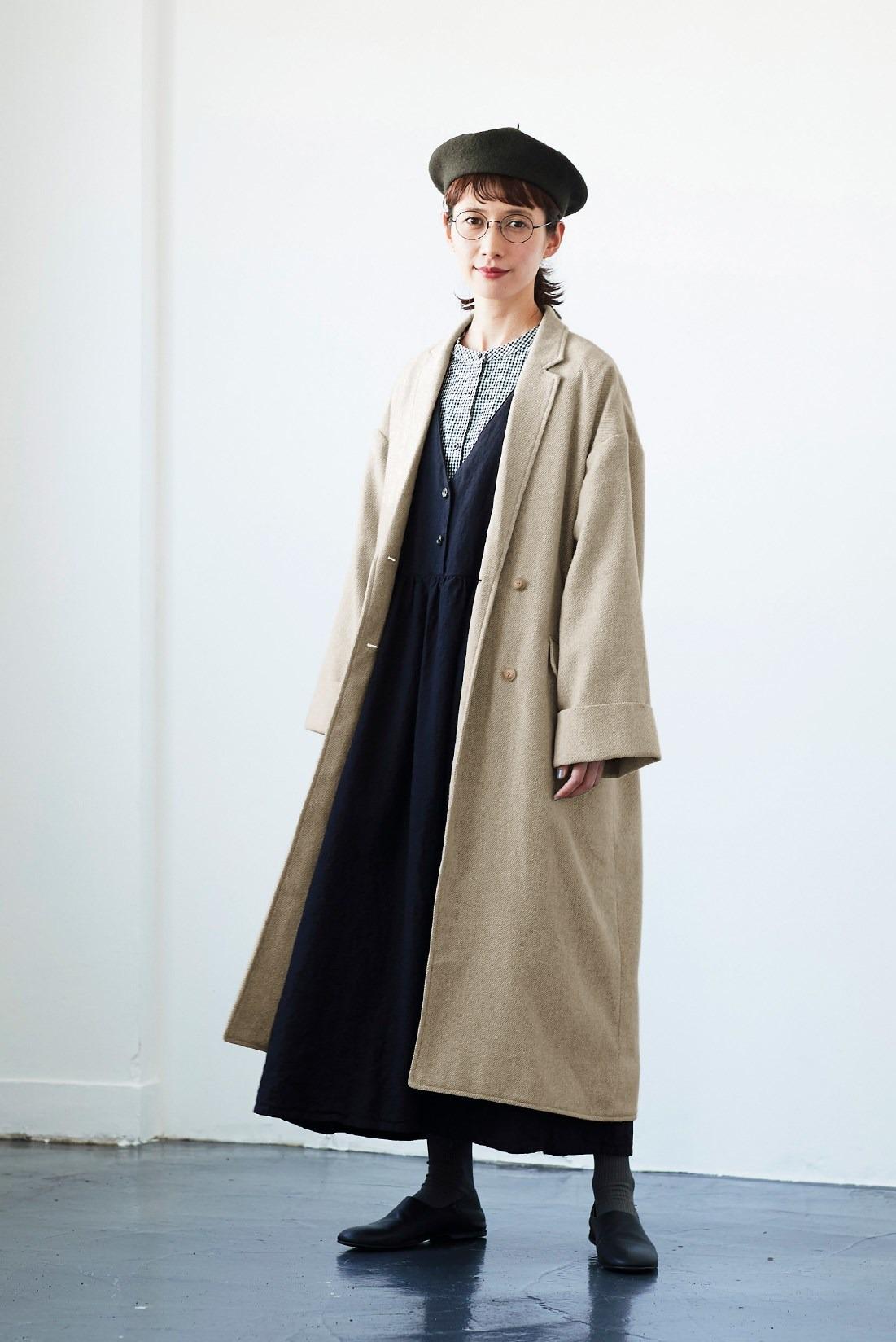 コートを羽織れば雰囲気が変わる冬のナチュラルコーデ
