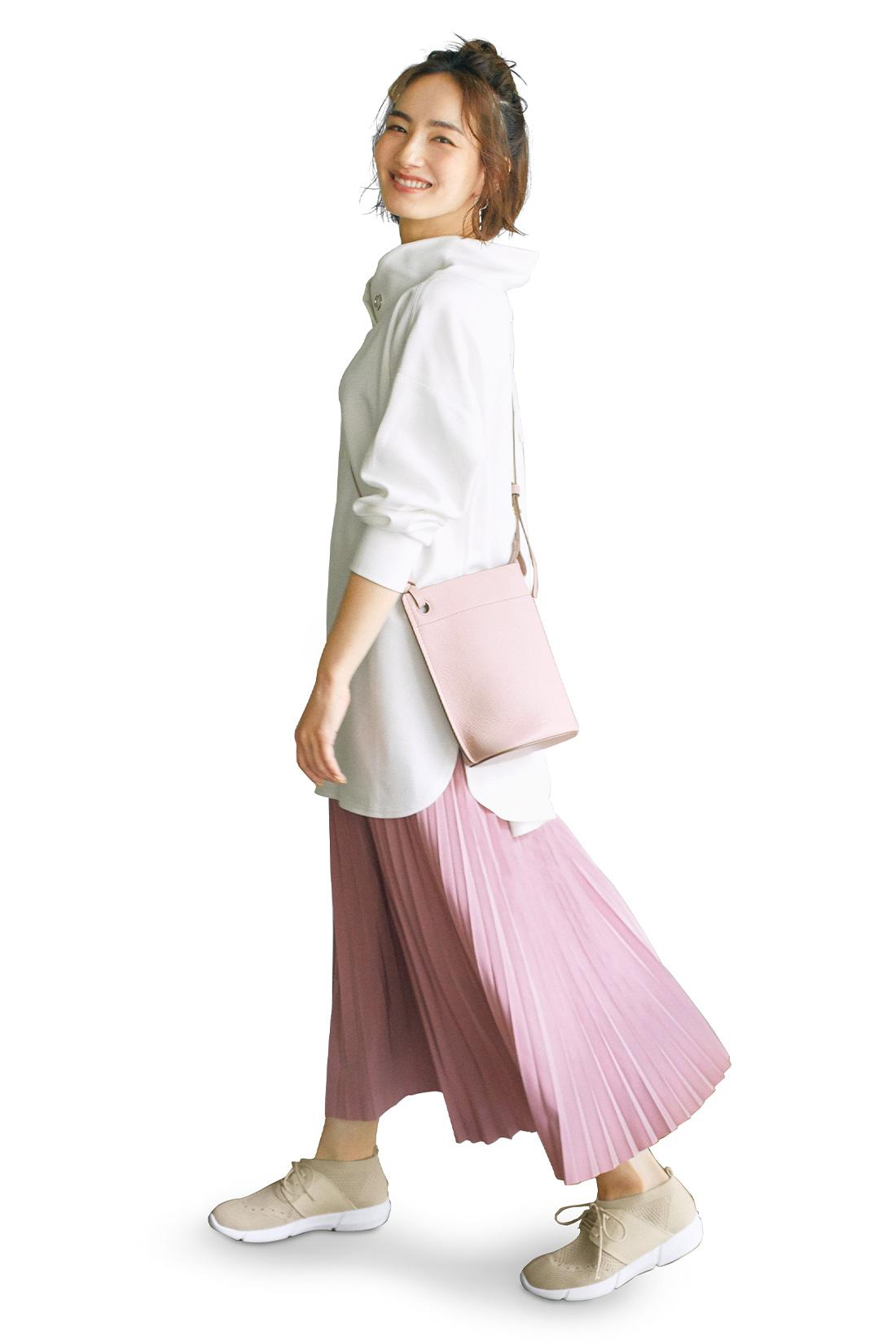 プリーツスカート ピンク