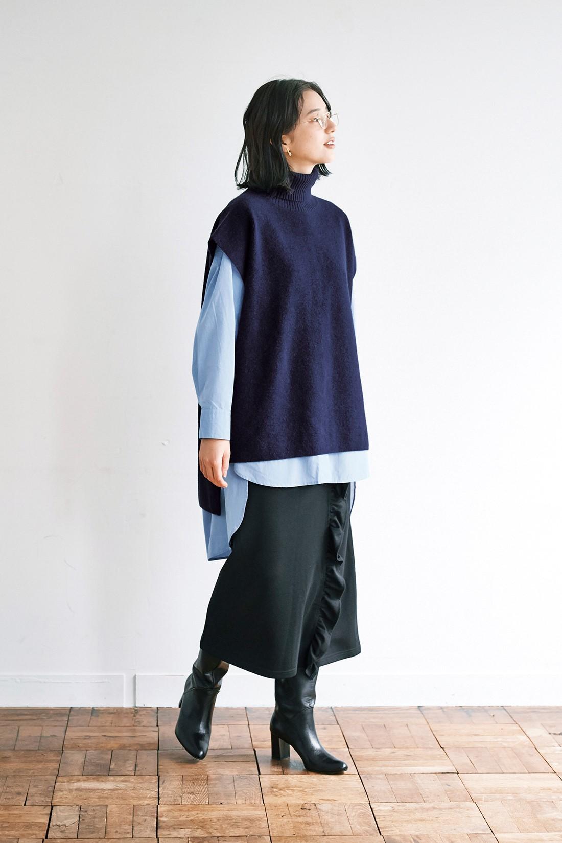 ロングシャツ スカート
