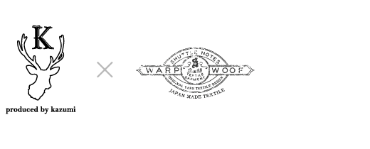 produced by kazumi × SHUTTLE NOTES WARP WOOF 1948 TEXTILE GARMENT ORIGINAL YARN TEXTILE DESIGN JAPAN MADE TEXTILE