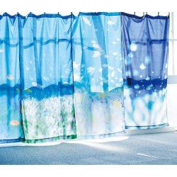 海とかもめ部 お部屋が海になる 海中の光に包まれるカーテンの会