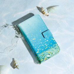 海を感じる ストラップ付き手帳型スマホケース